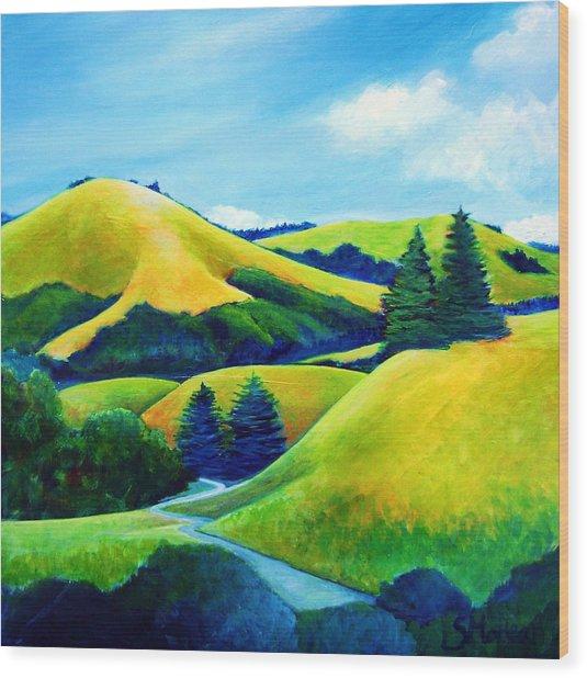 Back Of Mindego Hill Wood Print by Stephanie  Maclean
