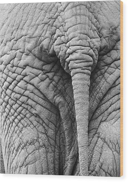 Back Side Wood Print