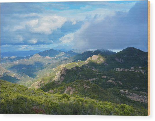 Backbone Trail Santa Monica Mountains Wood Print