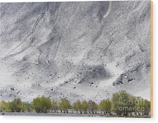 Backdrop Of Sand, Chumathang, 2006 Wood Print
