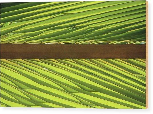 Palm West Wood Print