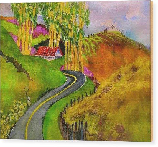 Backroads Sonoma County  Wood Print