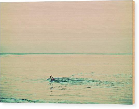 Backstroke Wood Print