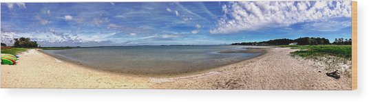 Backwater Bay Pano Wood Print