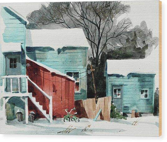 Backyard Bike Wood Print by Art Scholz