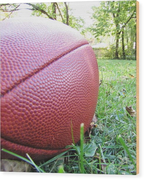 Backyard Football Wood Print