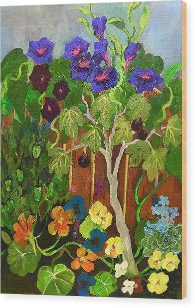 Backyard Wonders Wood Print by Esther Woods