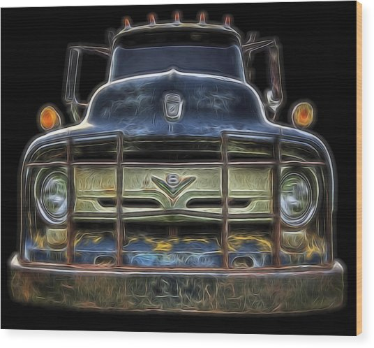 Bad 56 Ford Wood Print
