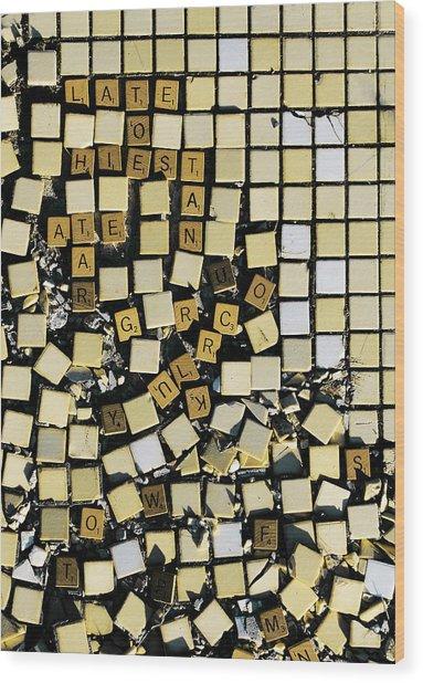Bad At Scrabble Wood Print