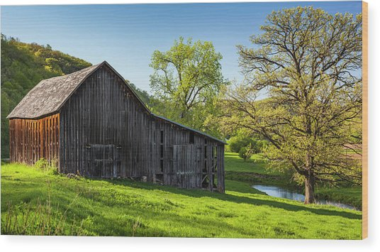 Bad Axe Barn Wood Print
