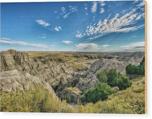 Bad Lands South Dakota.... Wood Print