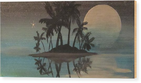 Bad Moon Sparkles   Wood Print