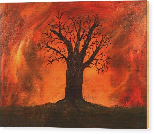Bad Tree Wood Print