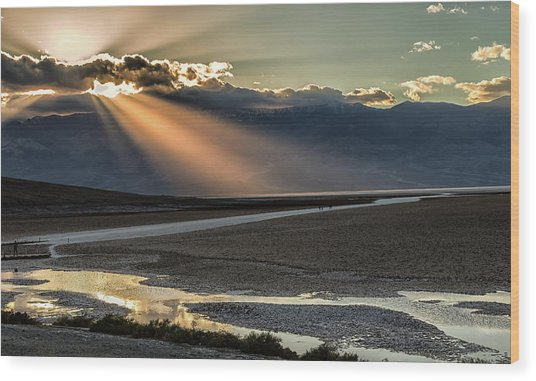 Wood Print featuring the photograph Bad Water Basin Death Valley National Park by Michael Rogers