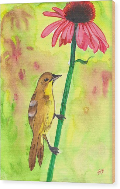 Badbird1 Wood Print