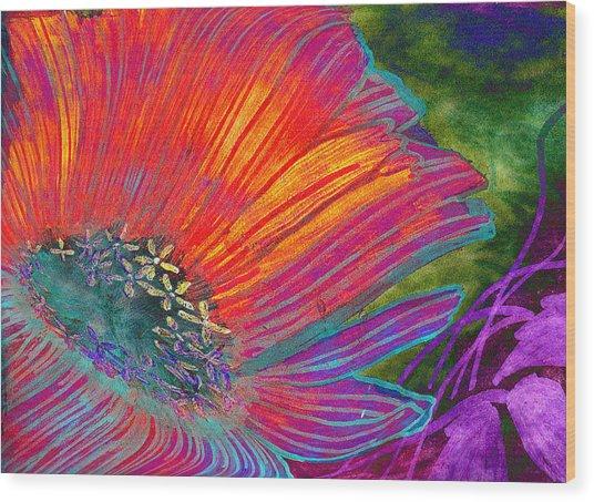 Badflower Wood Print