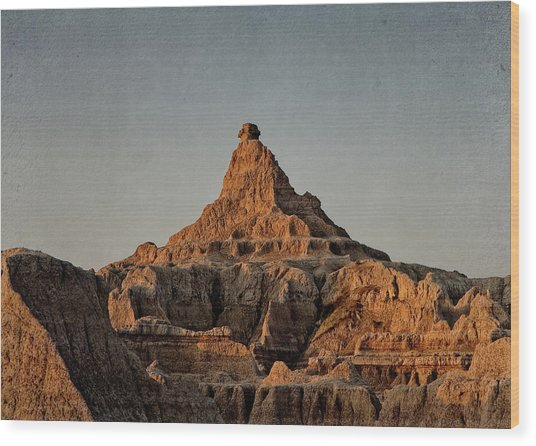 Badlands At Sunrise Wood Print