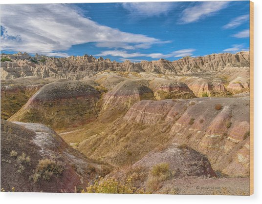 Badlands South Dakota Wood Print