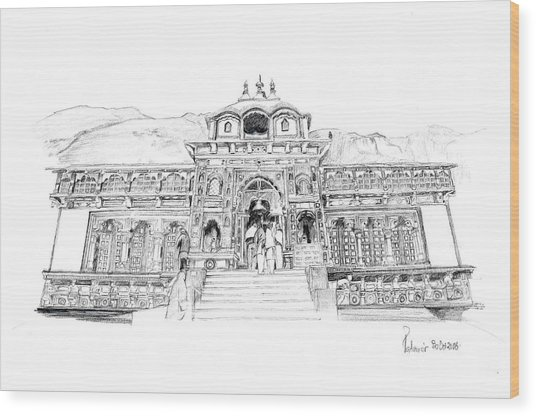 Badrinath Wood Print