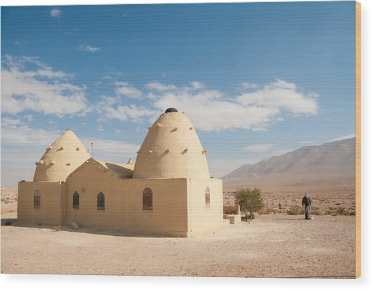 Bagdad Cafe In The Desert Wood Print