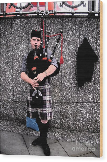 Wood Print featuring the photograph Bagpipe by Janelle Dey