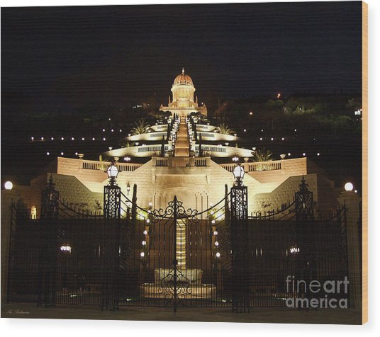 Bahai Shrine At Haifa - Israel Wood Print
