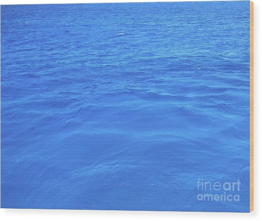 Bahama Blue Wood Print
