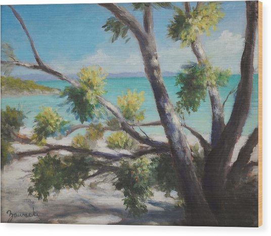 Bahamas Shade Wood Print