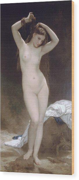 Baigneuse Or Bather Wood Print
