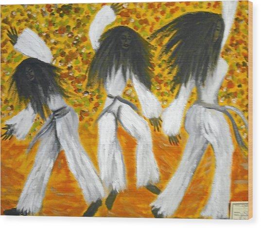 Bailar N Los Blanco  Wood Print by BJ Abrams