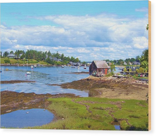 Bailey Island Lobster Shack Wood Print