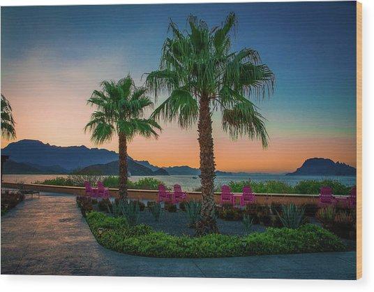 Baja Sunset Wood Print
