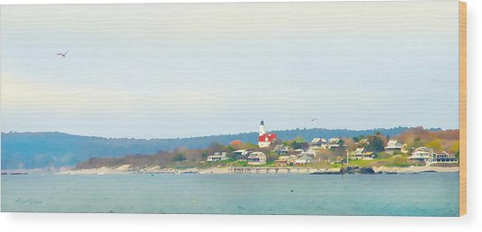 Bakers Island Lighthouse Wood Print