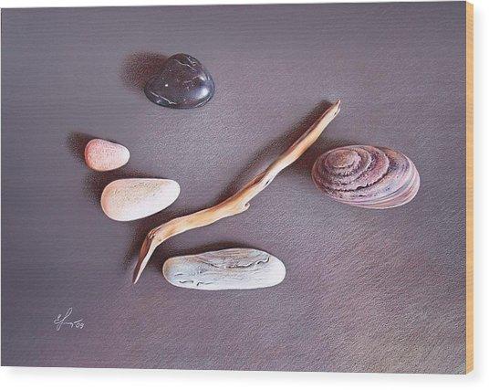 Balance 2 Wood Print by Elena Kolotusha