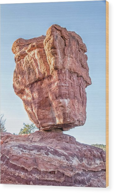 Balanced Rock In Garden Of The Gods, Colorado Springs Wood Print