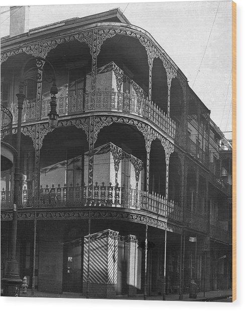 Balcony In The Sun Wood Print