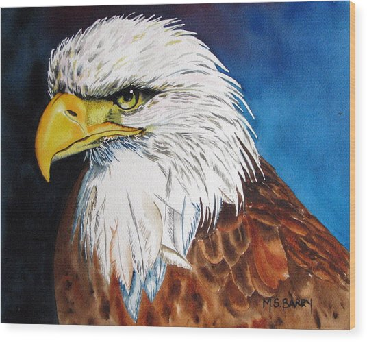 Bald Eagle Wood Print by Maria Barry