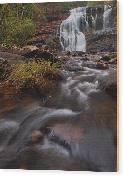 Bald River Falls Wood Print