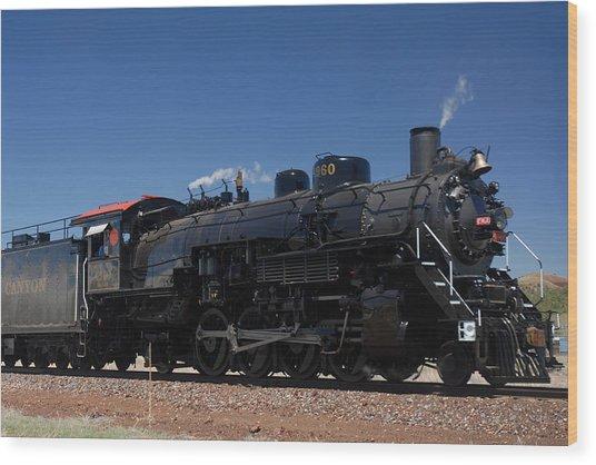Baldwin Mikado 2-8-2 No 4960 Steam Locomotive Williams Arizona Wood Print