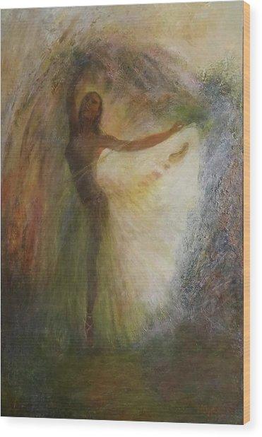 Ballet Dancer's Silhouette Wood Print