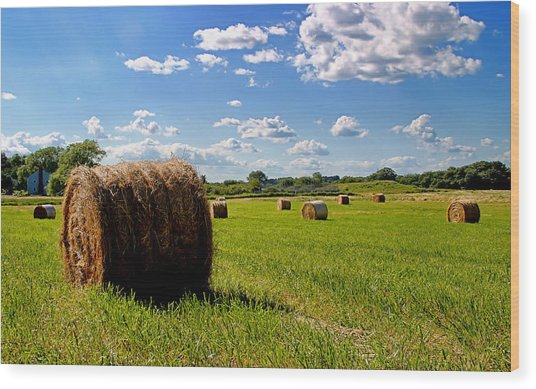 Bales Of Clouds Wood Print