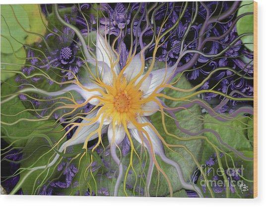 Bali Dream Flower Wood Print