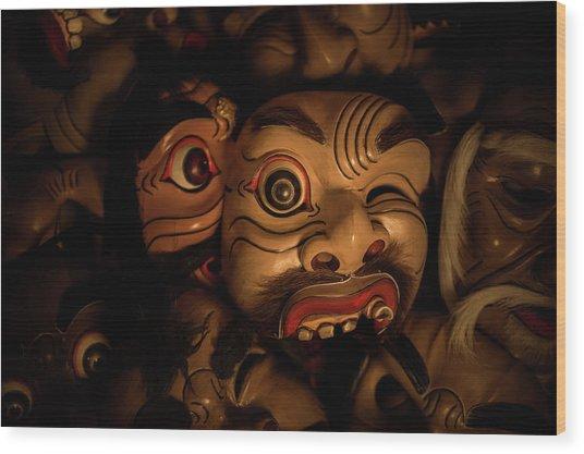 Bali Mask Wood Print
