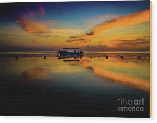 Magical Bali Sunrise Wood Print