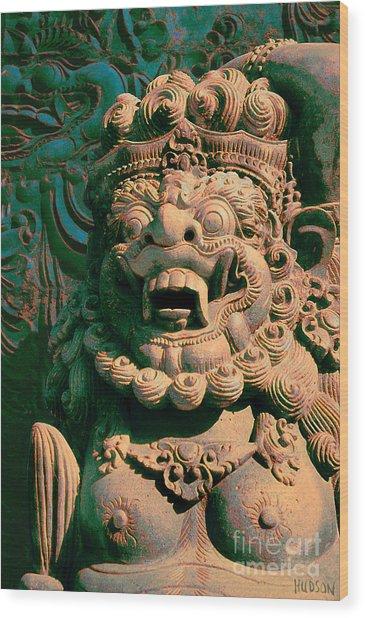 Balinese Hindu Temple Guardian Art Photography - Bali Guardian II Wood Print