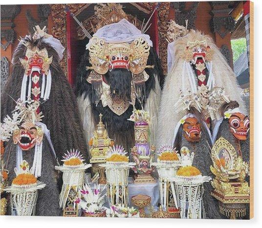 Balinese Life - Mlaspas Ida Sasuhunan Wood Print by Arya Swadharma