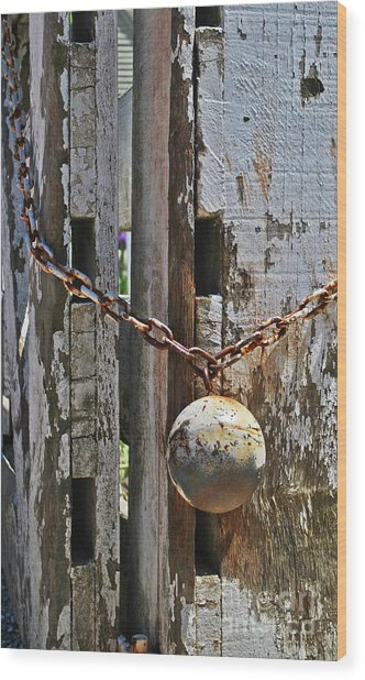 Ball And Chain Wood Print