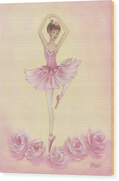 Ballerina Beauty Painting Wood Print