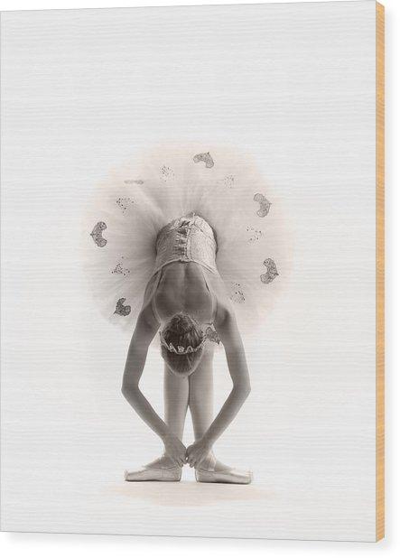 Ballerina Bent Wood Print