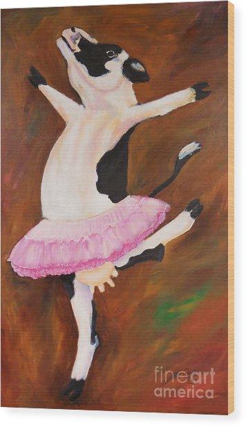 Ballerina Cow Wood Print
